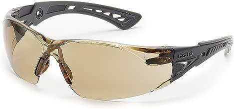 Bolle Safety Rush+ Safety Glasses, Black & Grey Frame, Twilight Lenses
