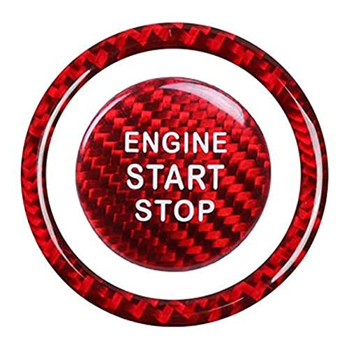SHUAI Motore in Fibra di Carbonio Start Stop Stop Switch Pulsante Telaio Decalcomania Cover Trim Fit for Subaru BRZ 2012-2019.