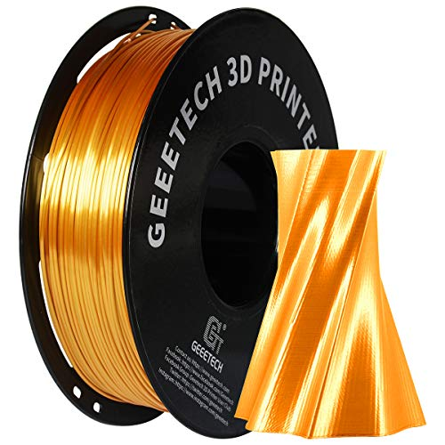 GEEETECH PLA filamento 1.75mm Silk Gold, Stampante 3D Filament PLA 1kg Spool