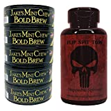 Jake's Chew Bold Brew Coffee Pouch - 5 Cans - Includes Mud Bud Disposable Spittoon (Punisher MB)