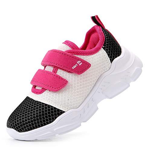 EIGHT KM Niño/Niño pequeño/Niño Grande Niñas Niños Zapatos Zapatillas Ligeras EKM7029 Blanco/Negro Talla 22