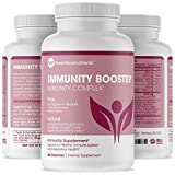 Immunity Booster Vitamins - Zinc, Elderberry, Andrographis, Vitamin C, B6, D & E Multivitamin for Immune Support - Powerful Antioxidant - Body Defence Supplement - 60 Cap - Pure Micronutrients