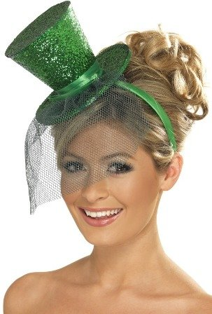 Smiffys Fever Mini Top Hat on Headband