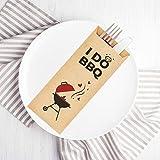 I Do BBQ Kraft Paper Silverware Sleeves -...