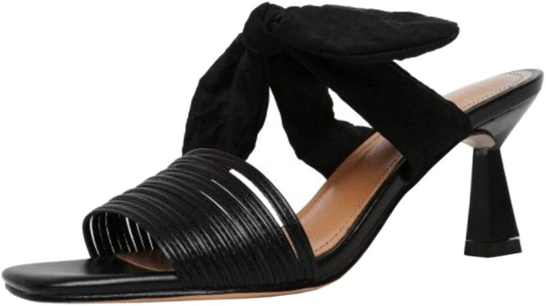 Lydee Women Fashion Mid Heels Summer shoes Slip On Slide Sandals
