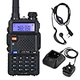 eSynic UV-5R Walkie Talkie Dual Band VHF/UHF with LED Display 128 Memory Channel with flashing Alarm and Radio...