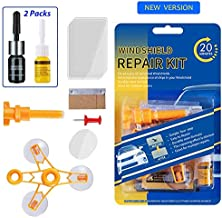 Upgraded Windshield Repair Kit with 2Pack Repair Fluid Kit– Newest Generation Car Vehicle Windshield Repair Resin Tools for Auto Glass Windshield Crack Chip Scratch/Chips/Cracks/Bulll's-Eyes&Stars…