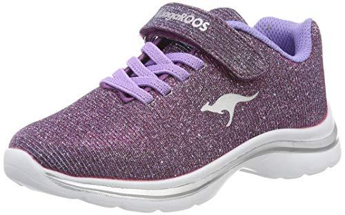 KangaROOS Unisex-Kinder Kangashine EV II Sneaker, Rot (Purple 6120), 32 EU
