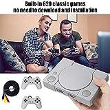Console jeu rétro 2 manettes sensibles, Built-in 620 Console jeux vidéo classique, Mini-console 8...