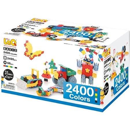 LaQ ラキュー Basic 2400 ベーシック 2400 Colors カラーズ 2400pcs+60pcs