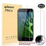 pinlu [2 Pack] Protector de Pantalla de Cristal para Acer Liquid Z6 (5.0 Pulgadas) Protector Cristal Vidrio Templado para Acer Z6 [9H/2.5D/0.26mm, 99% Transparente]
