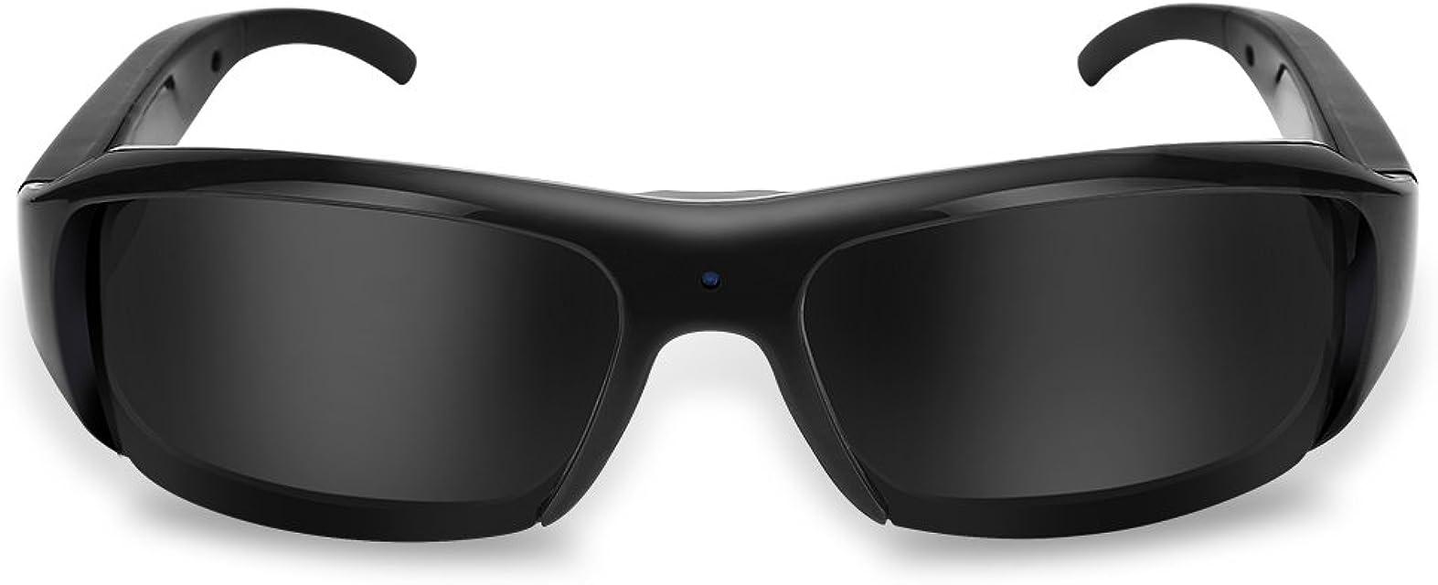 Gafas de Cámara Digital HD de 5 Megapíxeles Gafas de Sol con Cámara HD 1080P con Cabezal Recargable Lentes Polarizados Cámara Grande de Gran Angular para Deportes al Aire Libre