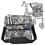 Vive Wheelchair Bag - Wheel Chair Storage Tote Accessory for Carrying Loose Items and Accessories - Travel Messenger Backpack for Men, Women, Handicap, Elderly - Accessible Pouch Pockets