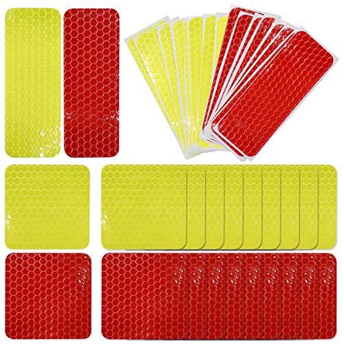 Qixuer 40 Pcs Adhesivos Reflectantes,Impermeable Cinta Reflectante Pegatinas Reflectantes Kit Adhesivo de...