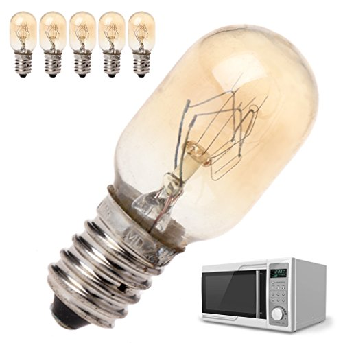 fivekim 5 pièces Four à Micro-Ondes Partie Ampoule 230 V 20 W Lampe de Verre de Haute qualité Montage à vis Ampoule de Four à Micro-Ondes