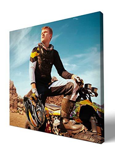 wandmotiv24 eigenes Foto Quadratisch 30x30cm auf Leinwand drucken Lassen, Ihr Fotodruck selbstgestalten eigenes Motiv, Leinwandbild, Fotogeschenk individuell