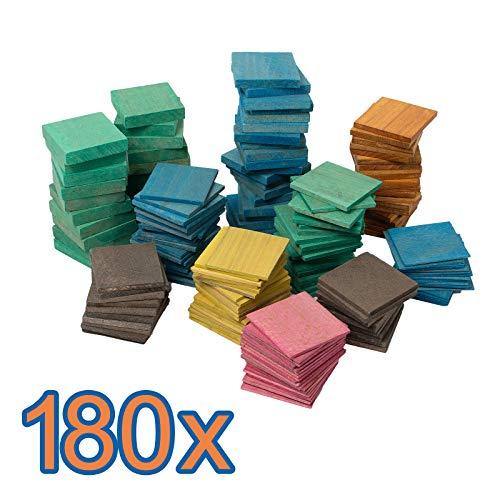 180 x Holz Unterlegplatten 70 x 70 x 2-20 mm Abstandshalter Montage Fenster Plättchen