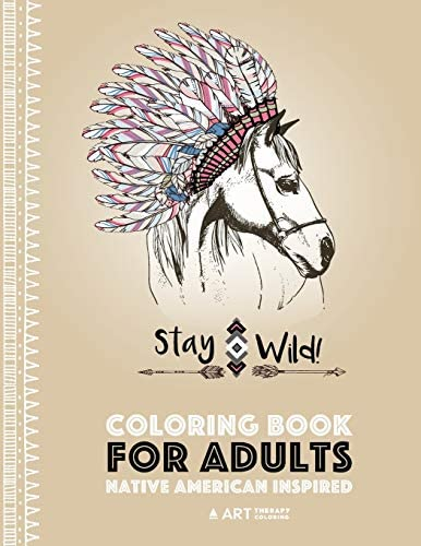 Coloring Book for Adults Native American Inspired Stress Relieving Adult Coloring Book Inspired product image