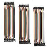 AZDelivery 3 x Jumper Wire Kabel 40 STK. je 20 cm M2M Male to Male kompatibel mit Arduino und Raspberry Pi Breadboard