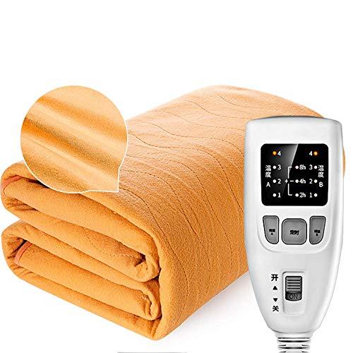 ZHFF Manta eléctrica de Confort Premium: Control con 4 configuraciones de Calor, protección contra sobrecalentamiento incorporada con Apagado automático de Seguridad, Manta eléctrica de Franela
