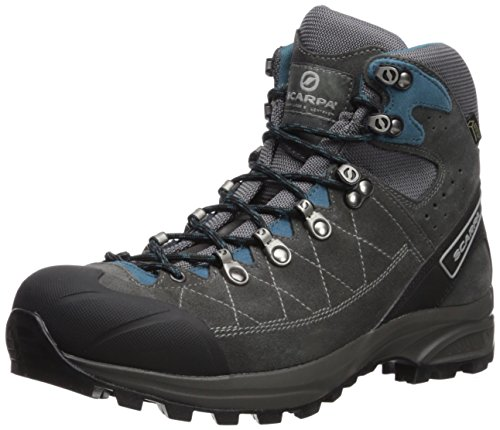 SCARPA Men's Kailash Trek GTX Hiking Boot, Shark Grey/Lake Blue, 43 Regular EU (US M 9.5-10, UK 8.5-9 US)