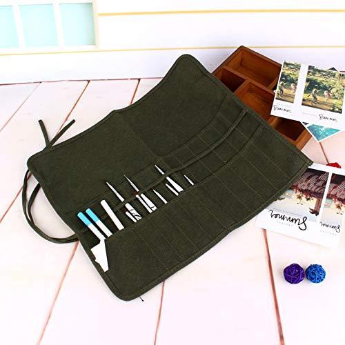 DAUERHAFT 22 Slots Roll Pen Bag Aufbewahrungshalter, Roll Up Pen Holder Case für Künstler Adult Coloring