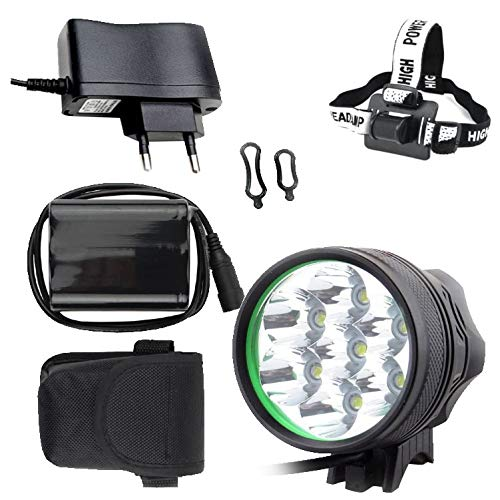 TriLance - Luz para bicicleta (5 luces, luz delantera retro, dinamo de buje de 7-12 V, dinamo, led, IPX5, resistente al agua, con batería (A)