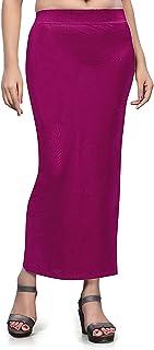 تنورة داخلية من نسيج الساري الدقيق للنساء، فستان من القطن الممزوج الشكل للارتداء للساري (أرجواني) ملابس داخلية