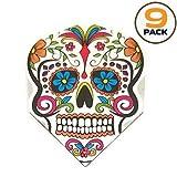 9. Art Attack 9 Pack Harrows Quadro Sugar Skull Day of The Dead 75 Micron Strong Standard Dart Flights