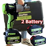 ZanGe Impact Wrench with 2 x 6.0mHa Battery and Fast Charger, Power Wrench