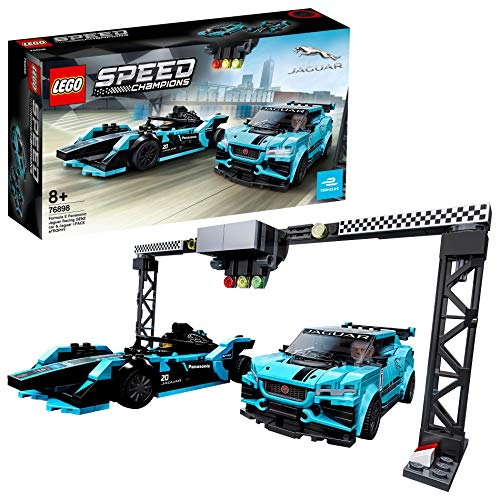 LEGO 76898 Speed Champions Formula E Panasonic Jaguar Racing GEN2 car & Jaguar I-PACE eTROPHY Rennwagen-Set