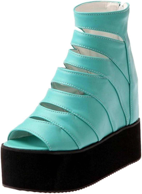FizaiZifai Women Hidden Heel Sandals shoes