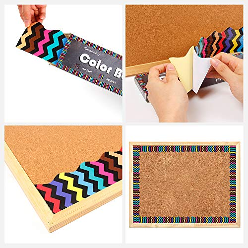Bulletin Borders Stickers, 80 ft Back-to-School Decoration Borders for Bulletin Board/Black Board/Chalkboard/Whiteboard Trim, Teacher/Student Use for Classroom/School Decoration, 2 Set Photo #2