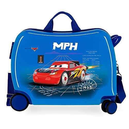Disney Cars Rocket Racing Maleta Infantil Azul 50x38x20 cms Rígida ABS Cierre combinación 34L 2,1Kgs 4 Ruedas Equipaje de Mano