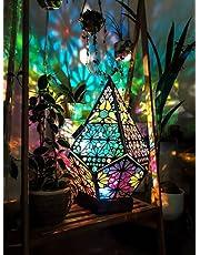 ZYKXSJ Bohemisk golvlampa för golv, polarstjärna stor golvlampa - LED färgglada diamantlampor, USB-bordslampor, lämpliga för hem, fest, bröllop, jul