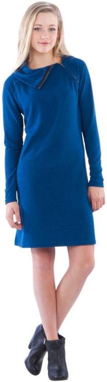 Neesha Split Cowl Zipper Dress