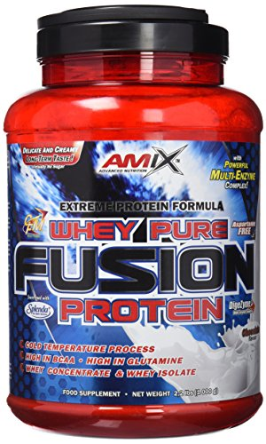 AMIX Whey Pure Fusion, Proteínas, Chocolate, 1000g