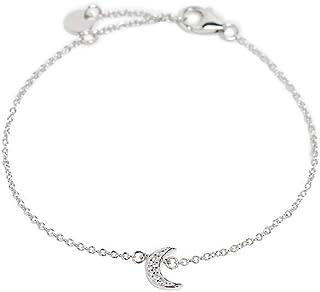 Esprit ESBR00931117 - Bracciale da donna con luna, in argento e zirconi, 21 cm
