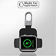 Newest Mini Portable Keychain Power Bank Magnetic 950mAh Charger for Apple Watch Wireless Charger,Travel Pockets Charger Cable Power Bank Compatible with Apple Watch iWatch Series 1 2 3 4