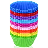 Silicone Cupcake Liners, Selizo 45 Pcs Reusable Silicone Baking Cups...