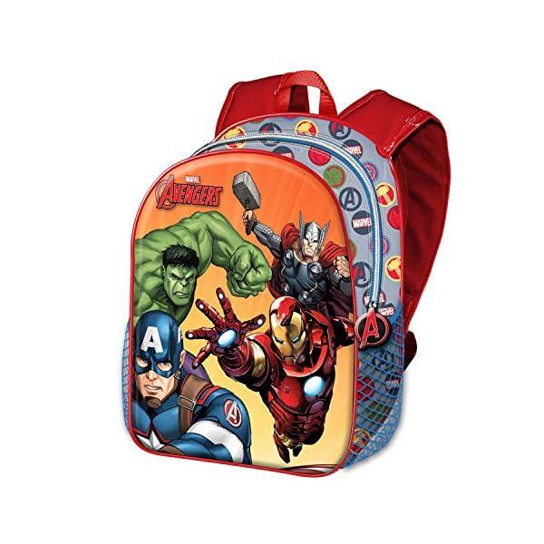51E+fPUdsaL. SS600  - Karactermania - Avengers Multicolor Mochila Basic - Force Rucksack Mochila Escuela Infantil para Niños Los Vengadores…