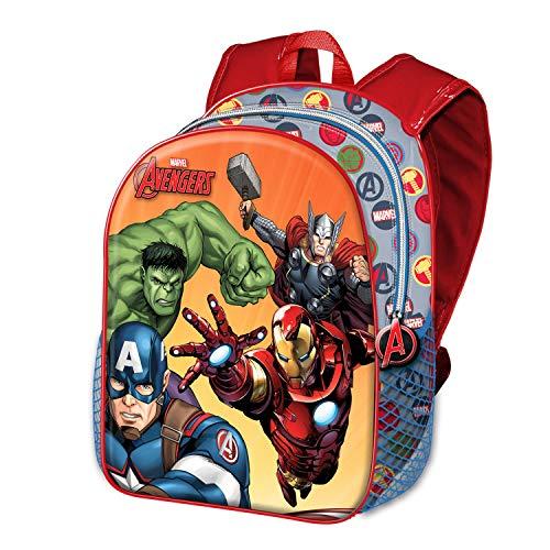 51E+fPUdsaL - Karactermania - Avengers Multicolor Mochila Basic - Force Rucksack Mochila Escuela Infantil para Niños Los Vengadores…