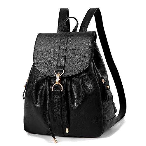 Women Vintage Tassel Backpack Handbags,Faux Leather Casual Daypack Travel Rucksack, Small School Bag for Teenage Girls