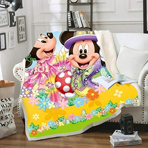 Manta de Minnie Mickey Mouse, Regalos, Manta de Felpa para bebé, 150X200Cm, Funda para sofá Cama, Ropa de Cama Individual para niños y niñas