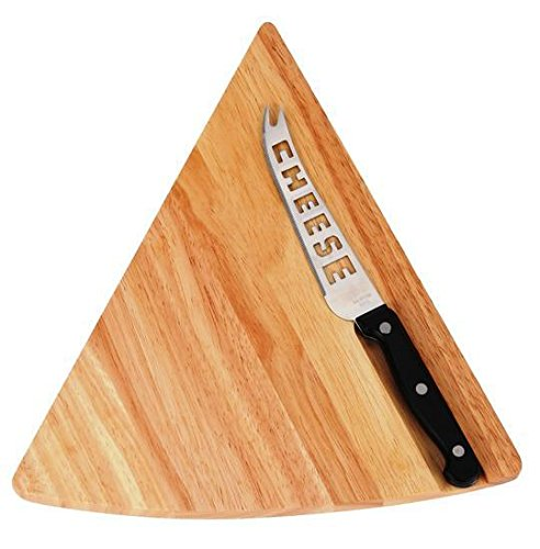Cheese Board and Knife Set (Top Quality 2 Piece Set)- Unique and Best Present for Your Mom and Wife | Wooden Board Designed for Cutting Cheese, Cake, fruits