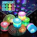 Herefun 12 Rainbow Spiral Juguete por Niños, Juguetes Luminosos, Arco Iris Espiral Primavera, Juguetes de Primavera del Arcoiris, Juguete Mágico Elástica Niños Fiesta de Cumpleaños de Herefun