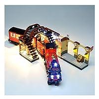 Rego Harry Potter 75955 Hogwarts Express Train、クリスマスプレゼントのためのビルディングブロックモデルのためのDIY LEDライトキット照明照明セット。