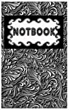 Floral Noir Harmonieux Notbook: This simple yet effective list journal provides enough blank to-do daily lists