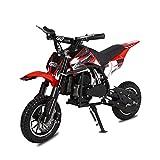 Hoverheart Dirt Bike Mini Motor Gas Powered 49CC 2-Stroke Ride On Toys for Kids (Red)