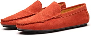 Asifn Men's Classic Moccasin Soft Comfort Suede Loafers British Minimalist Flat Driving Slip On Shoes